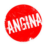 Angina rubber stamp Royalty Free Stock Photography