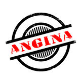 Angina rubber stamp Stock Photo