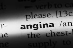 Angina. Word in a dictionary.  concept Royalty Free Stock Photography