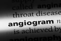 Angiogram. Word in a dictionary.  concept Stock Images