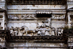 Angioino maschio τομών της Νάπολης Ιταλία Στοκ Φωτογραφία