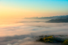 Angkhang. Sunrise mist chaing mai thailand Stock Photography