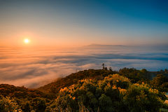 Angkhang. Sunrise mist chiang mai thailand Royalty Free Stock Photos