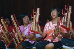 Angklung, Thai traditional instrument Stock Photos