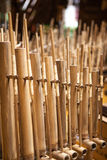 Angklung, traditionelles Musikinstrument von Indonesien Lizenzfreies Stockbild