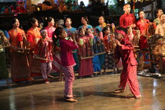 Angklung Ujo Pack music school in Bandung Stock Photography