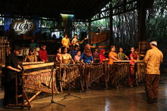 Angklung Ujo Pack Music School In Bandung Royalty Free Stock Photos