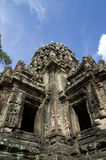 Angko汤姆,柬埔寨废墟  库存照片
