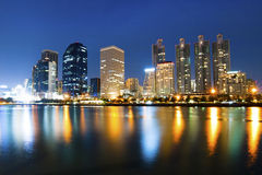 Angkok city downtown at night Royalty Free Stock Image