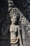 Angkok Wat女性石形象 免版税库存图片
