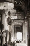 angkor佛教雕象wat 免版税图库摄影