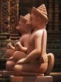 angkor在srei寺庙wat附近的banteay柬埔寨 免版税图库摄影