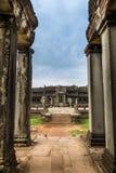 angkor在wat里面的亚洲柬埔寨 图库摄影