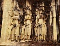 angkor收割siem thom 免版税图库摄影