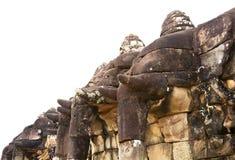 angkor柬埔寨大象大阳台thom 库存图片