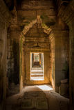 angkor柬埔寨收割废墟siem寺庙wat 免版税库存图片