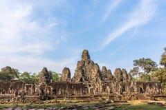 angkor柬埔寨收割废墟siem寺庙wat 免版税库存照片