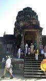 angkor柬埔寨收割siem wat 免版税库存照片