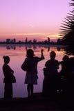 angkor柬埔寨日出wat 免版税图库摄影