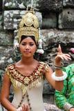 angkor柬埔寨舞蹈演员 图库摄影