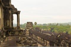 angkor柬埔寨视图wat 免版税库存照片