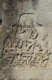 angkor柬埔寨雕刻高棉石头wat 库存照片