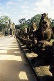 angkor柬埔寨雕象 免版税库存照片