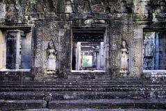 angkor柬埔寨高棉破坏wat 库存图片