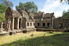 angkor柬埔寨khan preah寺庙 免版税图库摄影