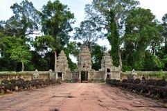angkor柬埔寨khan preah寺庙 库存图片