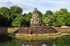 angkor柬埔寨neak pean寺庙 库存照片