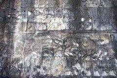 angkor浅浮雕 免版税库存照片