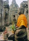 angkor菩萨・柬埔寨寺庙wat 免版税库存照片