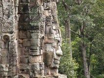 angkor雕象wat 库存照片