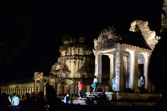 Angkor świątynia przy nocą Fotografia Stock