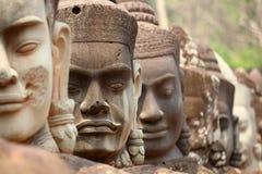 Angkor, λεπτομέρεια προσώπου Στοκ φωτογραφία με δικαίωμα ελεύθερης χρήσης