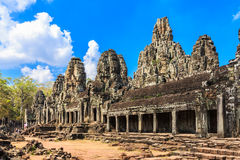 angkor Καμπότζη Ναός Angkor Thom Bayon Στοκ Φωτογραφίες