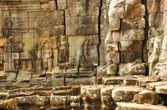 angkor Καμπότζη ο ναός καταστρέφει τη λεπτομέρεια Στοκ Φωτογραφίες