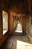 angkor Καμπότζη Πέτρινοι διάδρομος και στυλοβάτες Στοκ Φωτογραφία