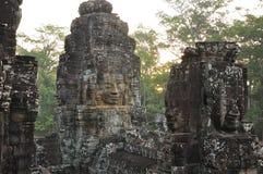 angkor Καμπότζη Khmer ναός Bayon Στοκ Εικόνες