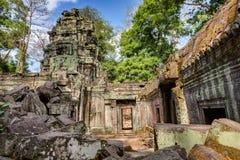 angkor Καμπότζη wat Khmer αρχαίος βουδιστικός ναός TA Prohm Στοκ Εικόνες