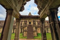 angkor μέσα στο ναό wat Στοκ Εικόνες