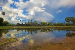 angkor πέρα από το ηλιοβασίλεμα Στοκ φωτογραφία με δικαίωμα ελεύθερης χρήσης