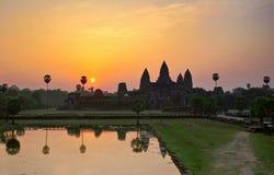 angkor над wat восхода солнца стоковые изображения