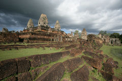 Angkor. Ancient Temple in Angkor in the evening Stock Photo