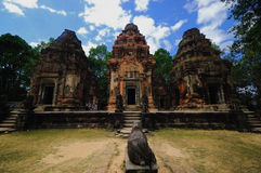 Angkor. A stone temple in the angkor Royalty Free Stock Photography