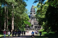 Angkor achter bomen Royalty-vrije Stock Afbeeldingen