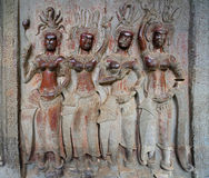 angkor apsara柬埔寨wat 免版税库存图片