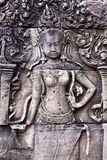 angkor apsara bas bayon ulgi świątynia Zdjęcie Royalty Free