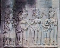 angkor apsara tancerzy wat Fotografia Royalty Free